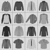 Men`s clothing set Stock Photo