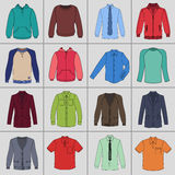 Men`s clothing set Royalty Free Stock Photos