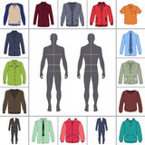 Men`s clothing set Stock Image