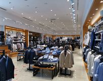 Men`s clothing shop Altınyıldız Classics – AC&co. Suits and shirts, footwear and accessories. The turkish fashion brand for men royalty free stock photo