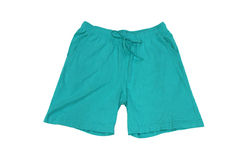 Men's clothing. Shorts for home green Stock Photos
