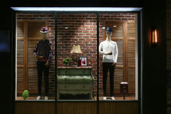 Men`s clothing store window Stock Photography