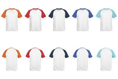 Men's 2-color raglan sleeve t-shirt 01. Royalty Free Stock Photography