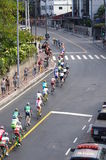 Men`s cycling road race on of Rio2016 Stock Image