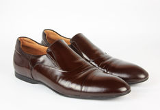 MEN'S DARK BROWN SHOES Royalty Free Stock Images