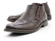 Men's dark brown shoes. Royalty Free Stock Image