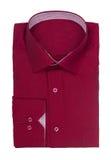 Men's dark red shirt Stock Photos