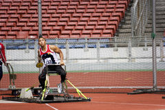 Men's Discus Throw for Disabled Persons Royalty Free Stock Photography