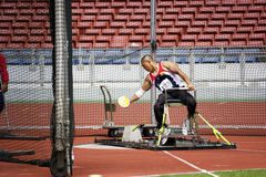 Men's Discus Throw for Disabled Persons royalty free stock image