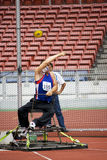 Men's Discus Throw for Disabled Persons. Image of the men's discus throw event at the 5th Asean Para Games 2009, held at the National Stadium, Bukit Jalil, Kuala stock photography