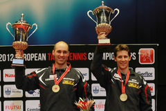Men's double awards Austrian winners Stock Photos