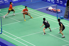 Men's  doubles,Badminton asia championships 2011. MD: Hirokatsu Hashimoto [JPN Royalty Free Stock Photos