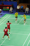 Men's doubles,Badminton asia championships 2011 Stock Photography
