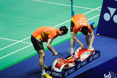 Men's doubles,Badminton asia championships 2011 Royalty Free Stock Photo