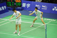 Men's  doubles,Badminton asia championships 2011 Royalty Free Stock Photos