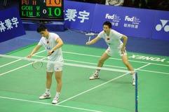 Men's  doubles,Badminton asia championships 2011 Royalty Free Stock Photos