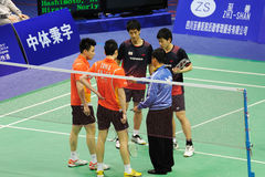Men's doubles,Badminton asia championships 2011 Royalty Free Stock Image
