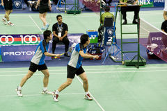Men's Doubles Badminton - Ko & Kwon Royalty Free Stock Images
