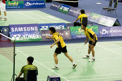 Men's Doubles Badminton - Rendra & Riyadi Stock Photos