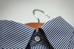 Men`s Dress Shirt on a Cloaths Hanger Stock Images