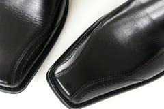 Men's Dress Shoes. Men's black italian dress shoes Stock Image