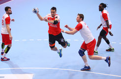 MEN'S EHF CUP DINAMO BUCHAREST - FRAIKIN BM. GRANOLLERS Royalty Free Stock Photos