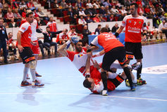 MEN'S EHF CUP DINAMO BUCHAREST - FRAIKIN BM. GRANOLLERS Stock Image