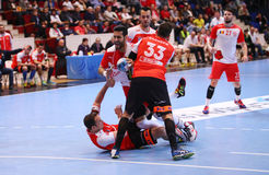 MEN'S EHF CUP DINAMO BUCHAREST - FRAIKIN BM. GRANOLLERS Royalty Free Stock Images