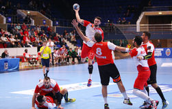 MEN'S EHF CUP DINAMO BUCHAREST - FRAIKIN BM. GRANOLLERS Stock Images
