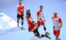 MEN'S EHF CUP DINAMO BUCHAREST - FRAIKIN BM. GRANOLLERS Royalty Free Stock Photo