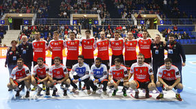 MEN'S EHF CUP DINAMO BUCHAREST - FRAIKIN BM. GRANOLLERS Royalty Free Stock Image
