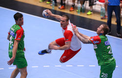 Men's EHF Cup Dinamo Bucharest - SC Magdeburg Royalty Free Stock Photography