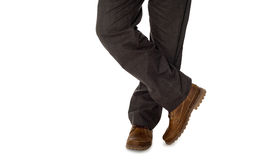 Men's fall shoes and trousers. Stock Photos