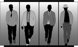 Men's fashion. Silhouette,vector work vector illustration