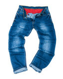 Men's fashion blue jeans Royalty Free Stock Photos