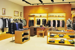 Men's fashion clothing store Royalty Free Stock Photos