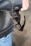 men's fashion eyeglasses Stock Photos