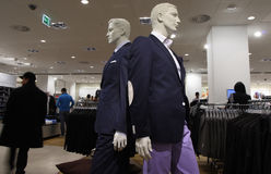 Men's fashion mall. Fashion store for men's clothing in the mall Stock Images