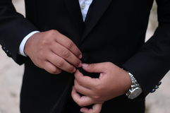 Men wear suit Stock Photos