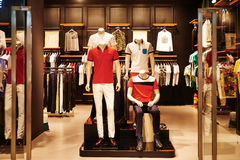 Mens fashion shop window boutique  Royalty Free Stock Photos