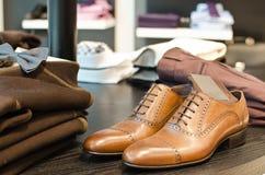 Men's fashion store royalty free stock photos