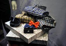 Men's fashion store Stock Photos