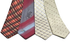 Men's fashion ties. Isolated on white Stock Images