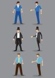 Men's Fashion Vector Character Illustration Stock Photos