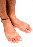 Men's feet Stock Photo