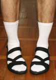 Men`s feet in sandals Royalty Free Stock Photography
