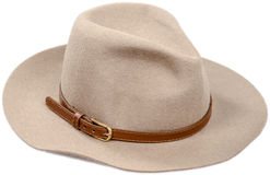 Men's felt hat on a white Royalty Free Stock Image