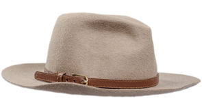 Men's felt hat on a white Royalty Free Stock Photography