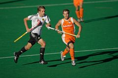 Men's field hockey action Stock Photos