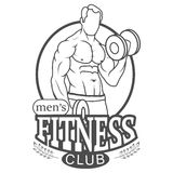 Men's Fitness Club Logo Royalty Free Stock Photo